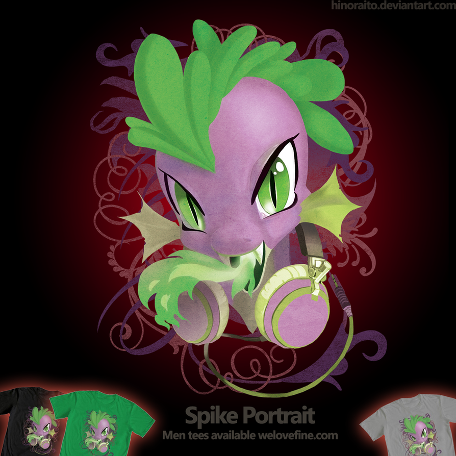 Welovefine: MLP FIM - Spike Headphone by hinoraito