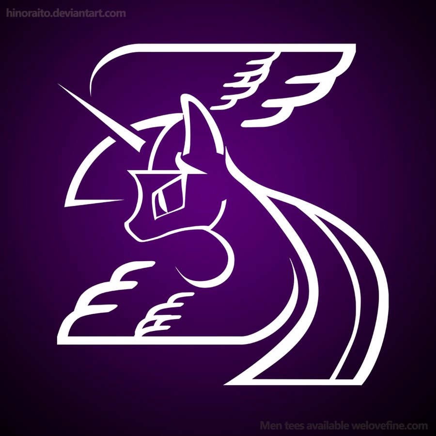 MLP FIM: Alicorn Twilight logo by hinoraito