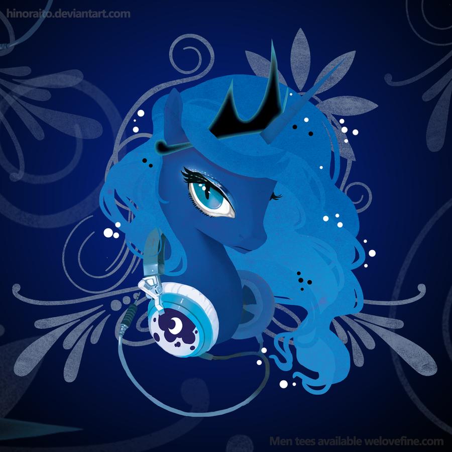 MLP FIM: Luna Portrait - Welovefine Shirt by hinoraito