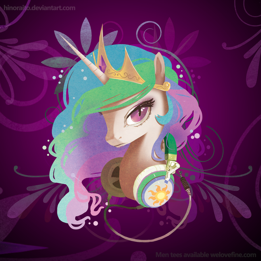 MLP FIM: Celestia Portrait - Welovefine Shirt by hinoraito