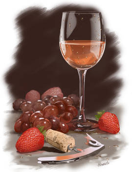 Still Life for Sister's experimental wine