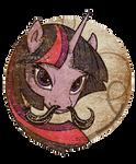 MLP FIM: Twilight Sparkle Mustache  - Welovefine