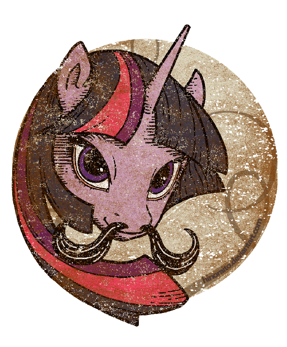 MLP FIM: Twilight Sparkle Mustache  - Welovefine by hinoraito