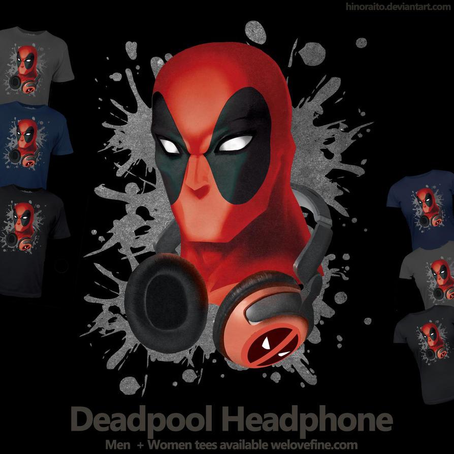 Deadpool headphone - Welovefine tee shirt by hinoraito