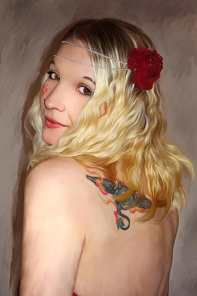 Self Portrait by L3xil3in