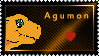 Agumon Stamp by L3xil3in