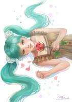 Miku and Rose by HiroUsuda