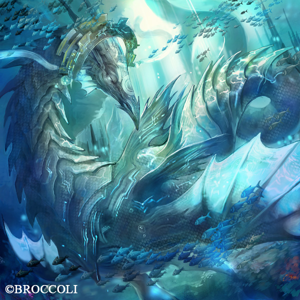 "abyss dragon ""blue mist "" by HiroUsuda on DeviantArt"