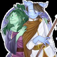 [CM] Lunnaday and Akriel by Gaarii