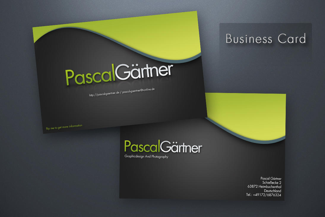 PG - business card by clackographix on DeviantArt