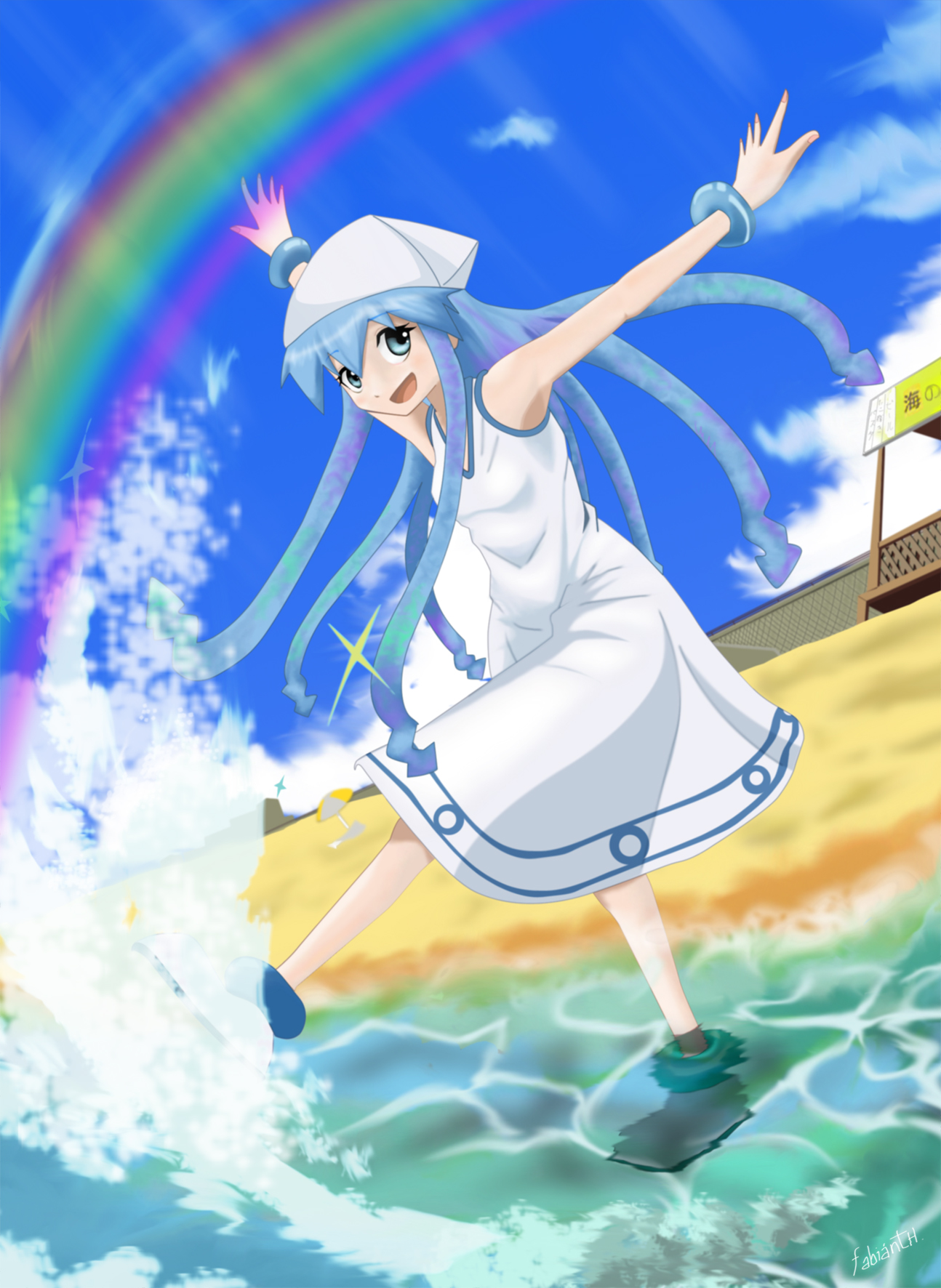 Chica Calamar Fan-Art (Shinryaku! Ika Musume) by Killerjaja