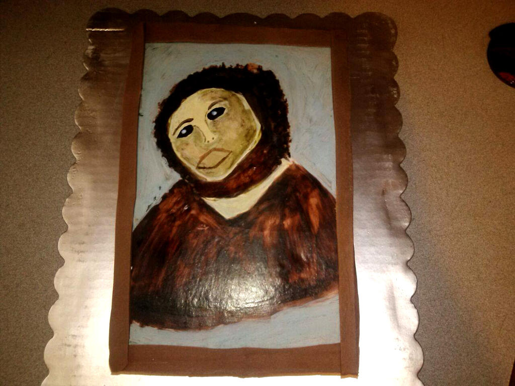 Ecce Homo Painting Restoration By PuddinCakeMania On