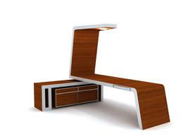 desk. by curiouslittlesister