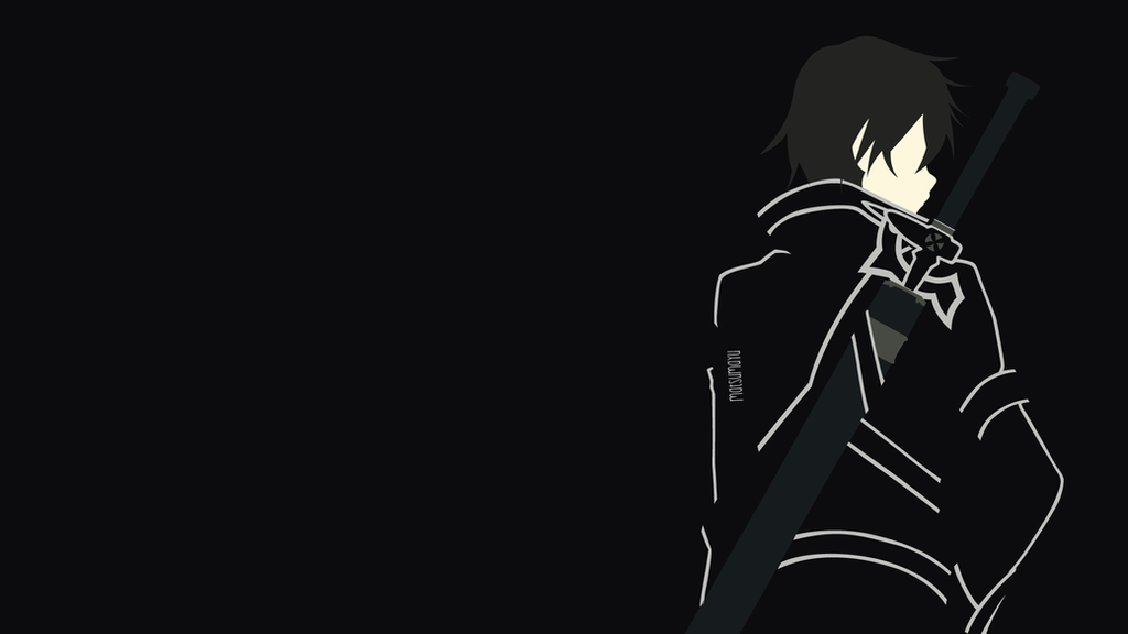Kirito sao version from sao minimalist by matsumayu on for Minimal art online