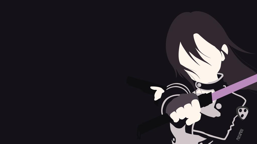Kirito ggo version from sao 2 minimalist by matsumayu for Minimal art online