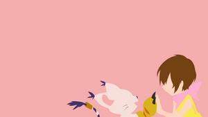 Hikari and Tailmon from Digimon   Minimalist