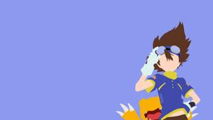 Taichi and Agumon from Digimon | Minimalist
