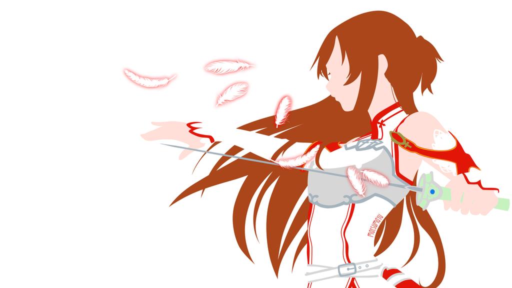 Asuna from sword art online minimalist by matsumayu on for Minimal art online