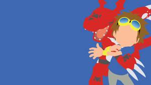 Matsuda Takato and Guilmon from Digimon Tamers