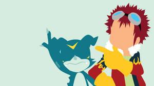Davis and Veemon from Digimon 02 |Minimalist