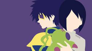 Ken and Wormmon from Digimon 02 |Minimalist