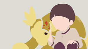 Iori and Armadillomon from Digimon 02 | Minimalist