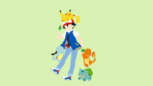 Ash Ketchum and Starter Pack | Minimalist