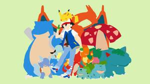 Ash Ketchum and Starter Gang | Minimalist