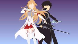 Kirito and Asuna from Sword Art Online by matsumayu