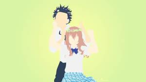 Shouko and Shouya from Koe No Katachi by matsumayu