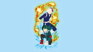 Midoriya and Todoroki Boku no Hero by matsumayu