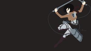 Mikasa Ackerman from Attack on Titan by matsumayu