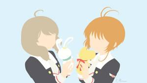 Sakura and Akiho from Cardcaptor Sakura by matsumayu