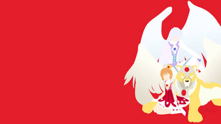Sakura and Clow's Guardians by matsumayu