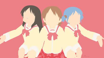Yuuko, Mio and Mai from Nichijou