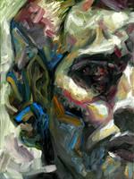 prisoner - 18 x 24 - oil by A-Fool