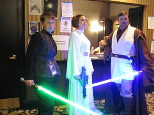 Luke, Leia and Obi-Wan