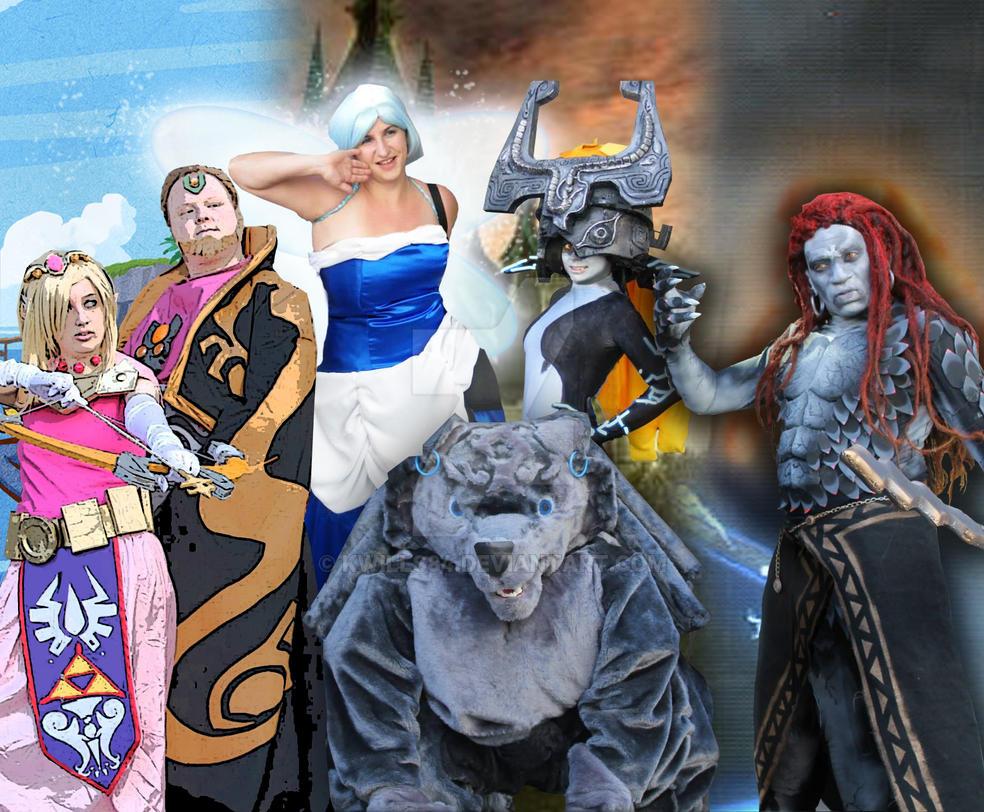 Zelda group at Animazement by kwills84