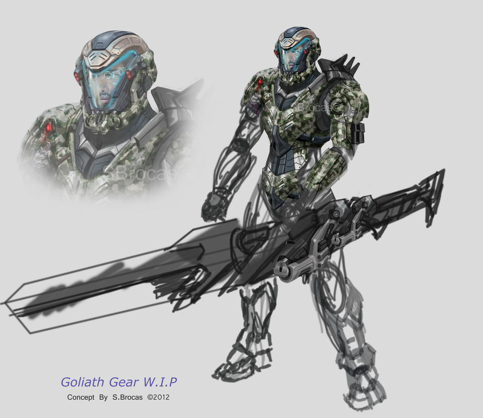 Goliath Gear Concept WIP by Lee99