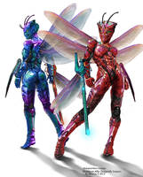 Multiform - Female Dragonfly Snipers by Lee99