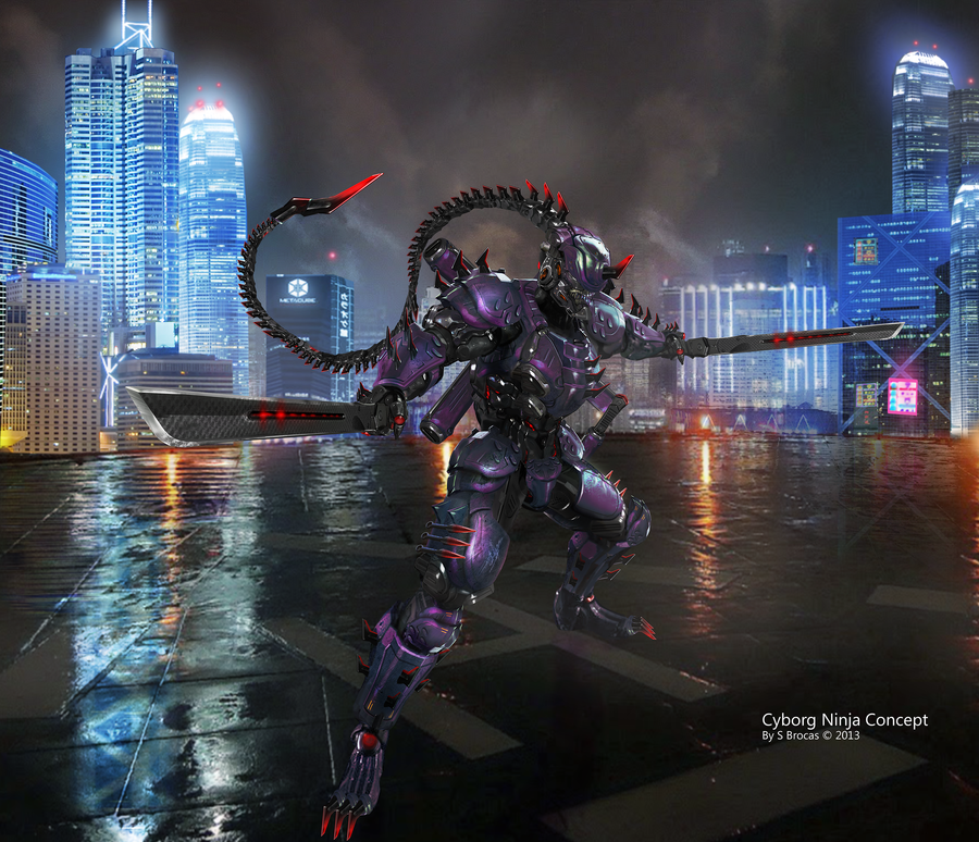 Cyborg Ninja Concept by Lee99 on DeviantArt