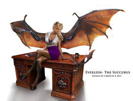 Commission-Everleen the Succubus by Lee99