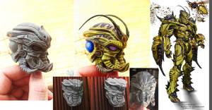 Hornet Berserker Sculpture Progress-02