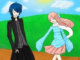 Ehyrine Contest Entry: Kuro and Dinky by CrystalShadow35