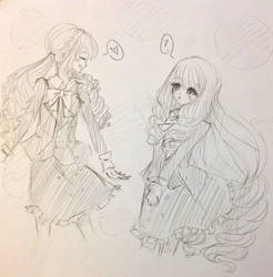 Request: Tomoko and Nagisa by CrystalShadow35