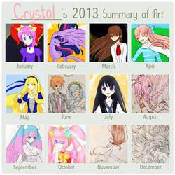 2013 Art Summary by CrystalShadow35