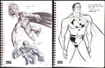 Then and Now Superman