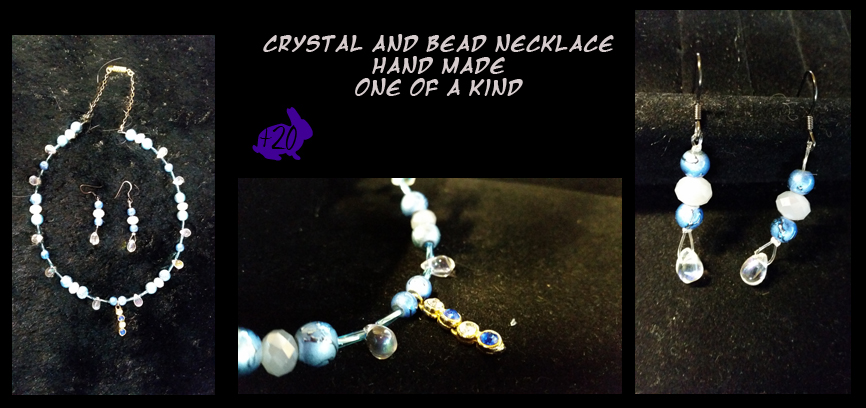 Crystal and bead Necklace by Khthonia