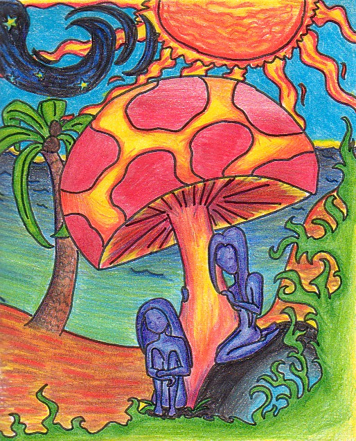 Original Colorful Mushroom by plurity