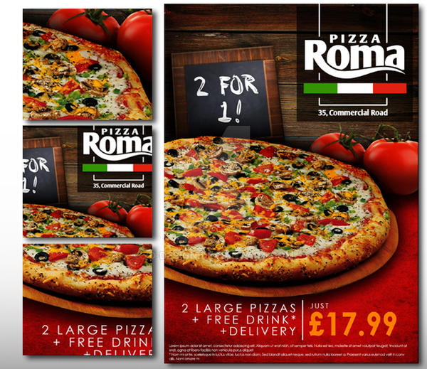 Pizza Roma poster by 2d-design